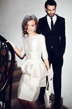 41 Elegant City Hall Bridal Outfits | HappyWedd.com