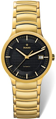 Rado Watch Centrix L #bezel-fixed #bracelet-strap-gold-pvd #brand-rado #case-material-yellow-gold-pvd #case-width-38mm #delivery-timescale-4-7-days #dial-colour-black #gender-mens #luxury #movement-automatic #official-stockist-for-rado-watches #packaging-rado-watch-packaging #style-dress #subcat-centrix #supplier-model-no-r30279153 #warranty-rado-official-2-year-guarantee #water-resistant-30m