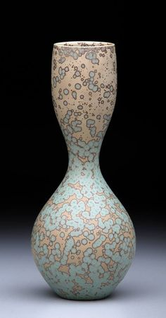 Crystalliine Vase by John Tilton. Tilton's work and studio were featured in the January 2015 issue of Ceramics Monthly. http://ceramicartsdaily.org/ceramics-monthly/ceramics-monthly-january-2015/