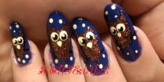 DIY Halloween Nails : Owl Halloween Nails