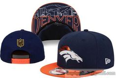 NFL Denver Broncos Snapback Classic Retro Brim Under Logo Pattern