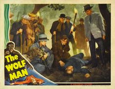 The Wolfman 1941 Movie Poster Lobby Card Size Poster Style M. Available here: http://www.classichorrorposters.com/shop/11x14-inch-lobby-card-size-posters/the-wolfman-1941-movie-poster-lobby-card-size-poster-style-m/