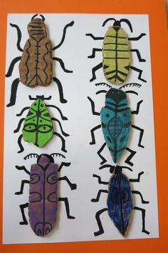 Petits Grans Artistes! Art Lessons For Kids, Art Lessons Elementary, Art For Kids, Crafts For Kids, Arts And Crafts, Diy Crafts, 2nd Grade Art, Bug Art, Insect Art