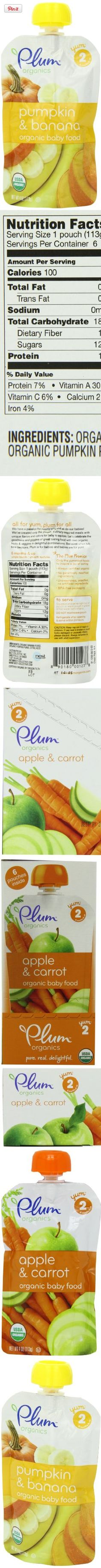 Plum Organics Baby Second Blends, Apple and Carrot, 4.0-Ounce Pouches (Pack of 12), All for yum, Plum for all.  At Plum Organics, we have a passion for yummy food and so do our babies! We've created only the purest, culinary-inspired meals with unique flavors and colors for baby to..., #spout #pouches for more information visit us at  www.coffeebags.co.za