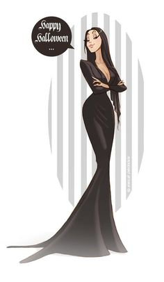 Morticia Addams by Emilie Decrock Morticia Addams, Gomez And Morticia, Comic Art, Dibujos Cute, Halloween Art, Happy Halloween, Dope Art, Disney Art, Cartoon Art