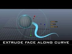 Maya Tutorial for Beginners - Extrude Face along Curve
