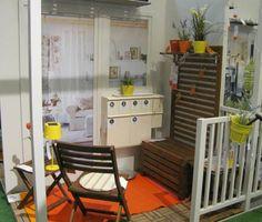 Małe balkony - aranżacje w sklepie IKEA