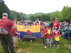 Pack 417 attended their district camporee at Woodruff Scout Camp this May, where they won the Spirit Award and learned to retire the American Flag. #AAC100
