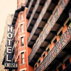 Chelsea Hotel...one of the most famous hotels in America. Past notable residents include Patti Smith, Iggy Pop, Bob Dylan, Virgil Thomson, Charles Bukowski, Janis Joplin, Leonard Cohen...and many others.