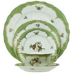 herend hungary fine china tea seteubank13 on etsy, $360.00