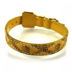 Fashionphile - GOYARD Chevron Dog Collar Small Bracelet Yellow