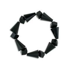 Geometric Crystal Stretch Bracelet - Made with jet (black) Swarovski® crystal.  Assembled in USA.