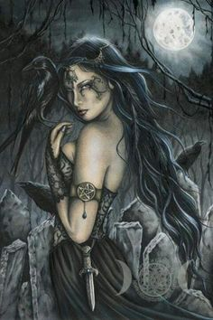 The Morrigan...Celtic goddess