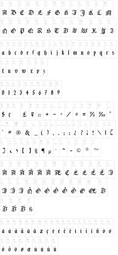 Black Knight FLF - this is my favorite font
