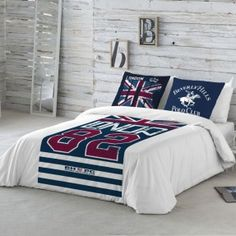 Funda Nordica Missouri BEVERLY HILLS POLO CLUB Super King Size Bed, Beverly Hills Polo Club, Missouri, Cool Things To Buy, Pillow Cases, Blanket, The Originals, Cover, Furniture