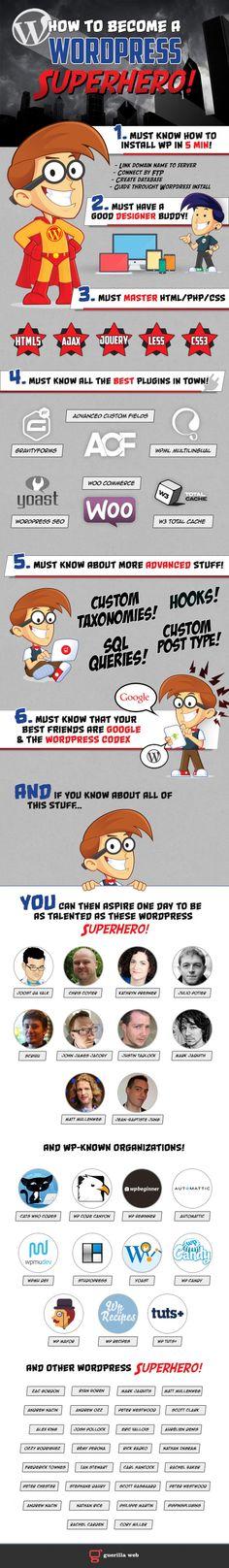 How to Become a #Wordpress Superhero!