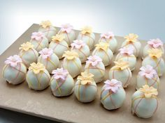 not generally a fan of cake balls, but this could inspire a pretty cake for easter