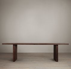 RH's Reclaimed Russian Oak Plank Rectangular Dining Table:Oak planks, reclaimed from decades-old buildings in Russia, lend richness to our tables