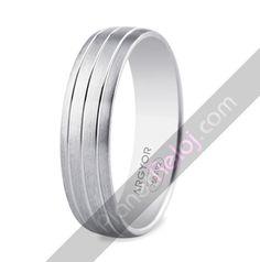 Alianzas joyeria. Alianza de boda en oro blanco5B50400
