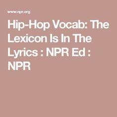 Hip-Hop Vocab: The L
