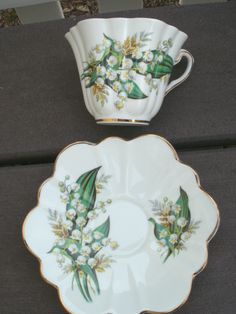 Shelley Lily of Valley Stratford teacup