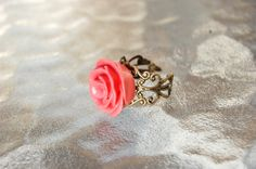 Cute Rose Adjustable Ring by BodyLoveJewelry on Etsy, $13.00