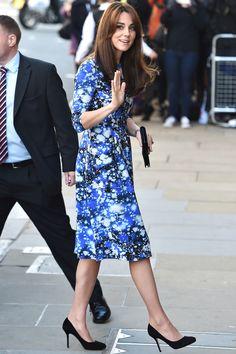 The Duchess of Cambridge attends a movie premiere in a Tabitha Webb dress.   - HarpersBAZAAR.com