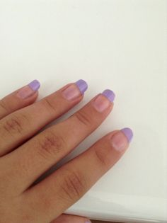 French manicure purple style.