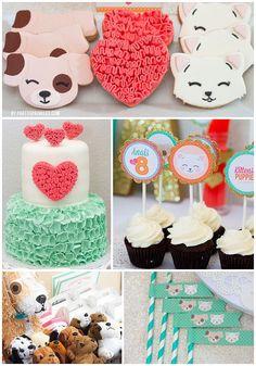 Kitten & Puppy Birthday Party by PartySprinklesStore
