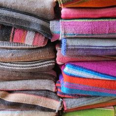 vintage bolivian textiles (frazadas)