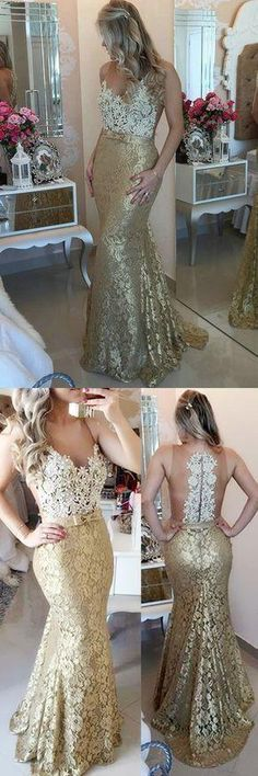 Illusion Mermaid Sweep Train Champagne Prom Evening Dress With Bow cg21133