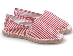 Toms New Arrivals Womens stripe shoes white and red
