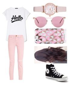 """""""Untitled #170"""" by marissa-moore-i on Polyvore featuring Current/Elliott, Converse, Emporio Armani, Oliver Peoples and Kate Spade"""