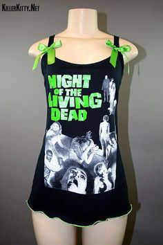 Night Of The Living Dead Horror Zombie Slub Tank by KillerKitty, $48.00