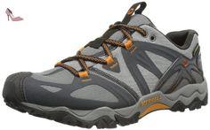 Merrell Grasshopper Sport Gore Tex, Chaussures de randonnée basses homme - Grey, 41 EU (7 UK) (7.5 US) - Chaussures merrell (*Partner-Link)
