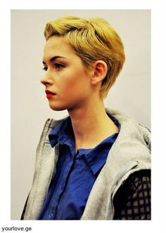 cropped hair  - this i want to try.