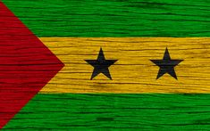 Download wallpapers Flag of Sao Tome and Principe, 4k, Africa, wooden texture, national symbols, Sao Tome and Principe flag, art, Sao Tome and Principe