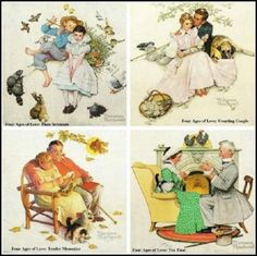 The Four Ages Of Love -  Norman Rockwell