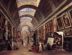 HUBERT ROBERT  Design for the Grande Galerie in the Louvre