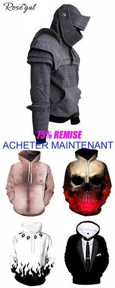 premium selection b5d41 466c1 Sweat-shirt à capuche pour homme  Rosegal  hoodie  sweatàcapuche  homme