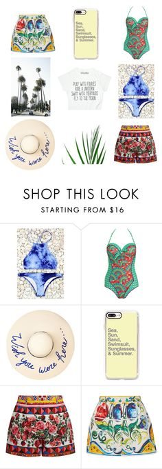 """Summer Goals"" by gypsie-moth on Polyvore featuring Paolita, Eugenia Kim, Casetify and Dolce&Gabbana"