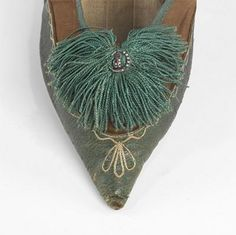 Women's Cotton and Leather day shoes 1805-1810