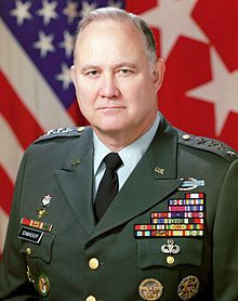 "Herbert Norman Schwarzkopf  (1934 – December 27, 2012) US Army general served as Commander of U.S. Central Command coalition forces in the Gulf War - With his passing, America lost a great patriot and a great soldier. The highlight of his career was the 1991 Persian Gulf War, Operation Desert Storm. 'Stormin' Norman' led the coalition forces to victory, ejecting the Iraqi Army from Kuwait and restoring the government. His leadership inspired his troops and the nation. - ""Requiescant in Pace"""