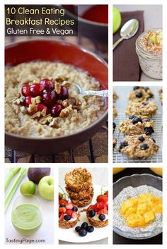 10 Clean Eating Breakfast Recipes - Gluten Free, Dairy Free & Free from Refined Sugar | http://TastingPage.com