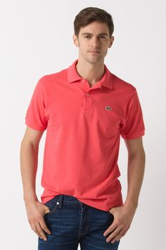 Lacoste Polo in Coral