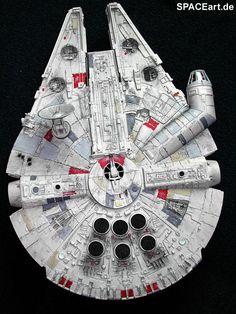 Star Wars: Millennium Falcon - Cut-Away, Modell-Bausatz Star Wars Toys, Star Wars Art, Star Trek, Star Wars Desenho, Maquette Star Wars, Millennium Falcon Model, Nave Star Wars, Star Wars Design, Star Wars Vehicles