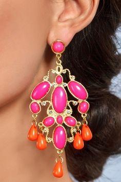 Hot Tropics Chandelier Earrings | Boston Proper