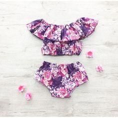 LILIANA  SUMMER SETS Vacation Baby Girl Set Sun Suit #babysunsuit