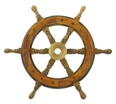 "Amazon.com - 12"" Wood Ship Wheel - Pirate Shipwheel - Nautical Decor - Nautical Bathroom Decor"