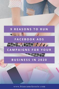 9 Reasons to run Facebook Ads campaigns for your business in 2020 Facebook Advertising Tips, Facebook Ads Manager, Facebook Marketing Strategy, Social Media Marketing Business, Online Marketing Strategies, Social Media Tips, Advertising Ideas, Marketing Ideas, Content Marketing